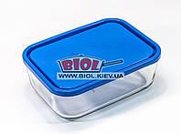 Посуд скляний 2,3 л прямокутний з пластиковою кришкою Borgonovo