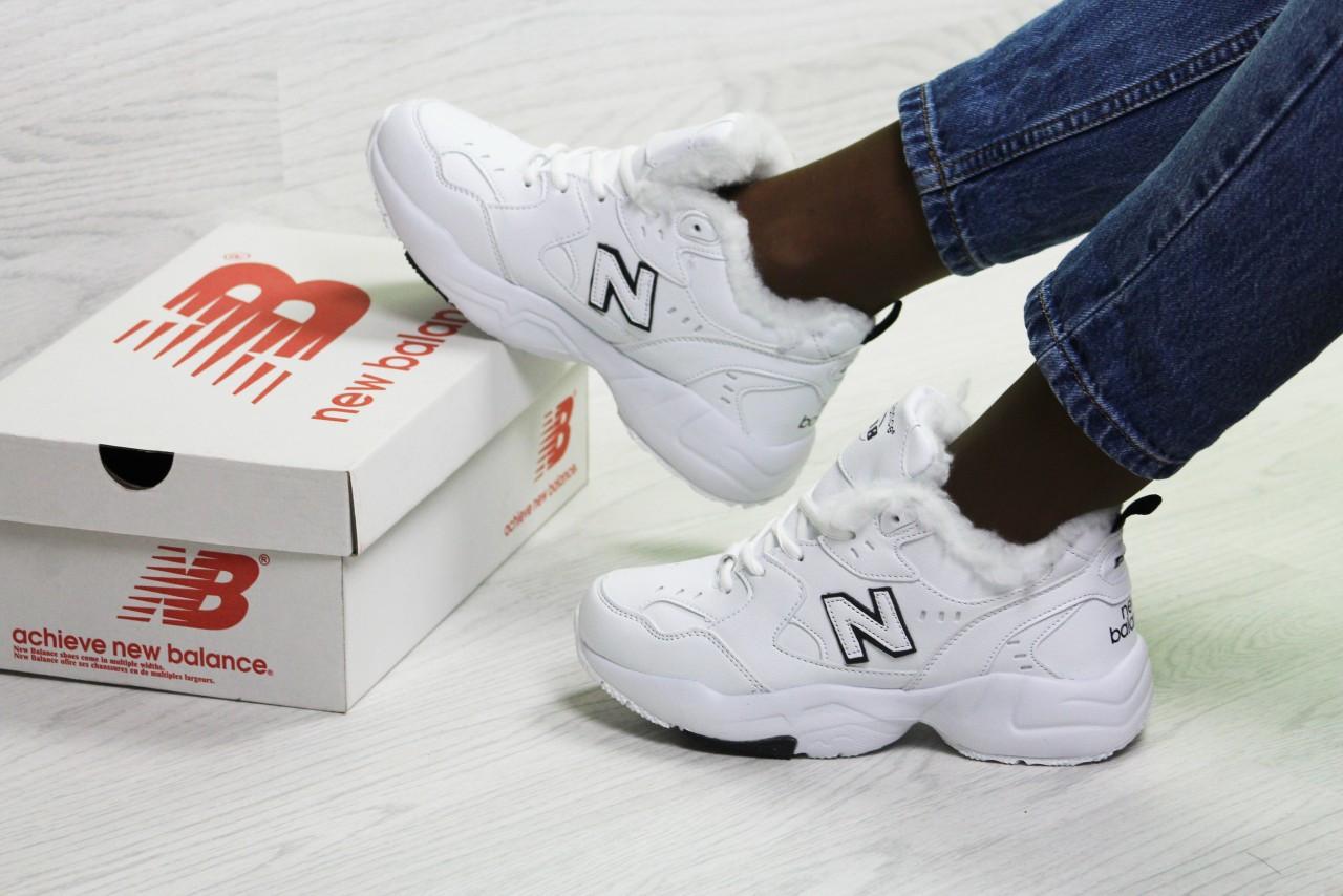 d6b601e5defb Зимние женские кроссовки New Balance 6896 белые с черным - Интернет-магазин