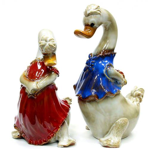 Пара фигурки из керамики Гусь и Гусыня
