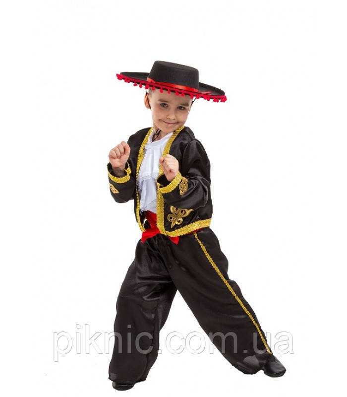 Костюм Тореадор 5-9 лет Детский новогодний карнавальный костюм для мальчиков 344