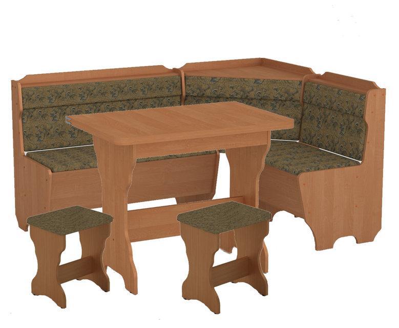Кухонний куточок Корсика (стіл КС-3 розкладний+диван+2 табурета Т1)