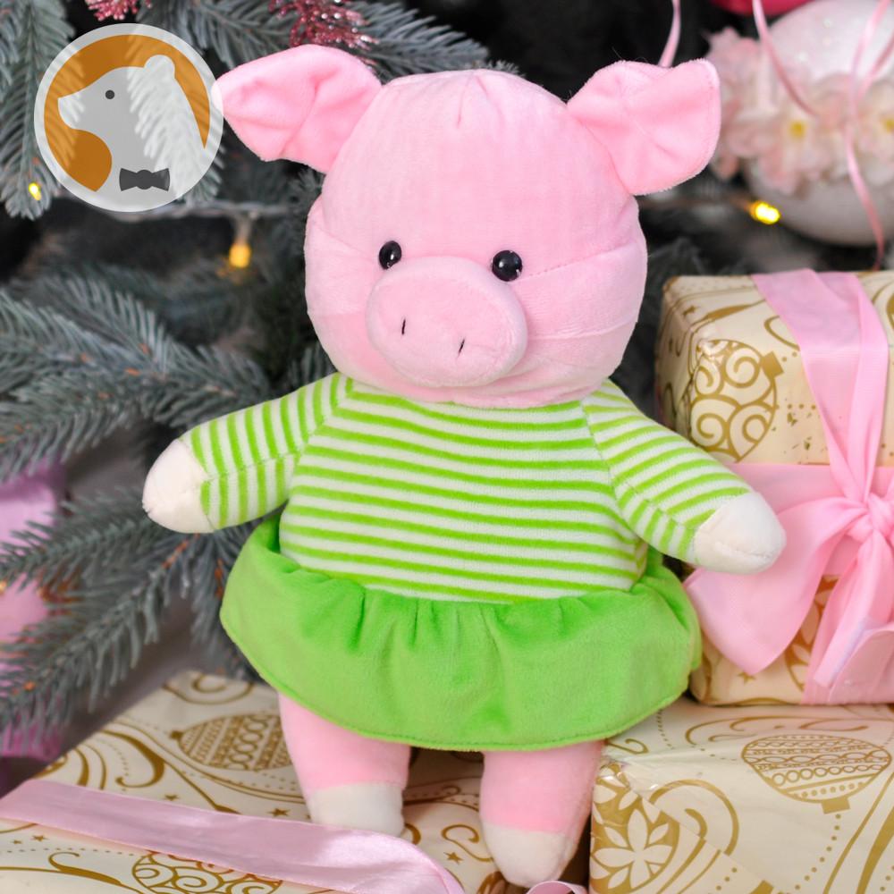 Мягкая игрушка Маленькая Свинка в платье