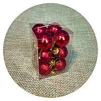 """Набор елочных шаров """"Мини""""(30мм, красный) 12шт"""