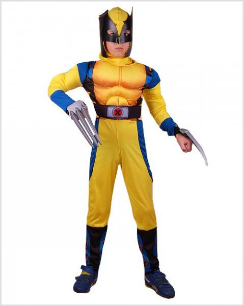 Детский костюм Росомахи с мышцами для мальчика