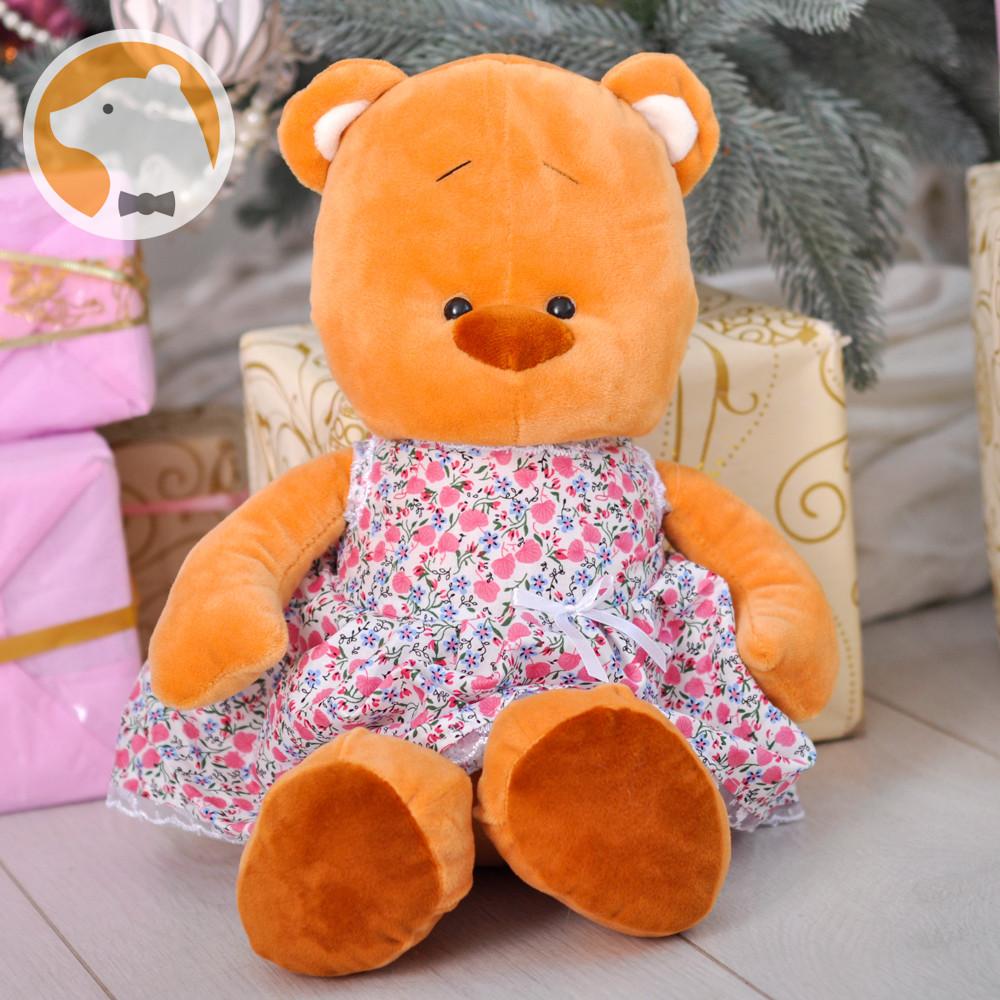 Плюшевый Мишка Тильда в платье, 44 см