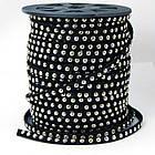 Шнур Замшевый, с алюминиевыми вставками, Цвет: Черный, Размер: Ширина 6мм, Толщина 2.5мм, (УТ100009182)