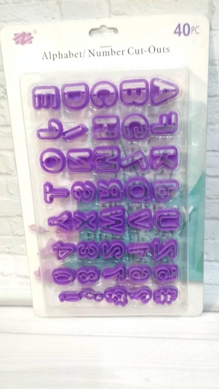 Вырубка  для мастики английский алфавит+цифры.