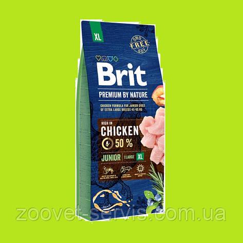 Сухой корм для щенков и молодых собак гигантских породBrit Premium Junior XL 15 кг, фото 2
