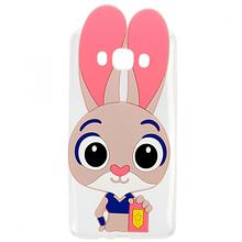 Чехол накладка силиконовый Зверополис Rabbit для Samsung I9500 S4