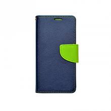 Чехол книжка ткань Goospery Fancy Diary для Xiaomi Redmi Note 4 синий