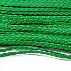 Шнур Искусственная Кожа, Плетеный, Цвет: Зеленый, Размер: 5х2мм, около 100м/связка, (УТ100009811)
