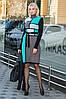 Вязаное теплое платье Кубики