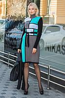 Вязаное теплое платье Кубики, фото 1