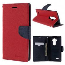 Чехол книжка ткань Goospery Fancy Diary для Samsung J106 J1 Mini Prime красный