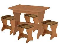 Обеденный комплект Лагуна (стол КС 3 раскладной +4 табурета)