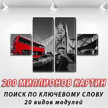 Модульные картины, на ПВХ ткани, 45x80 см, (18x18-2/45х18-2), фото 3