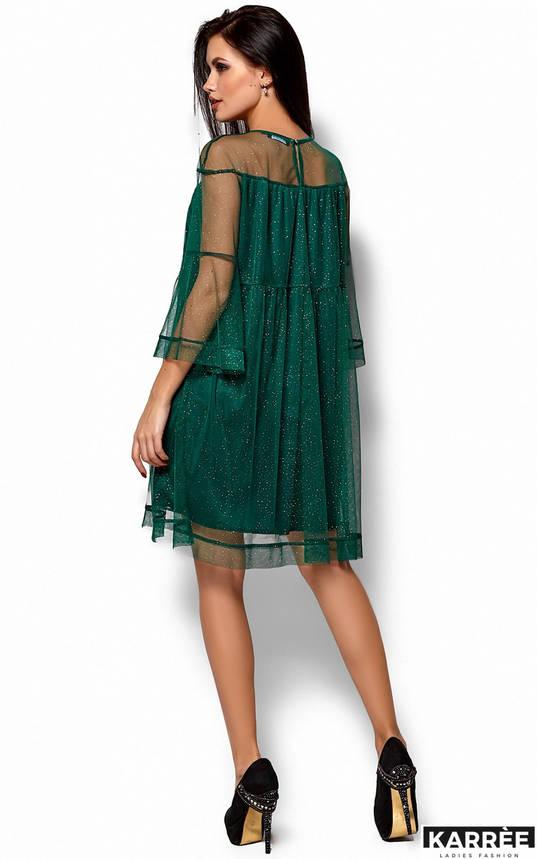 Нарядное женское платье из сетки изумрудное, фото 2
