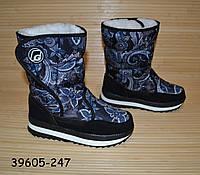 Зимові термо чобітки дутики 39, 40, фото 1
