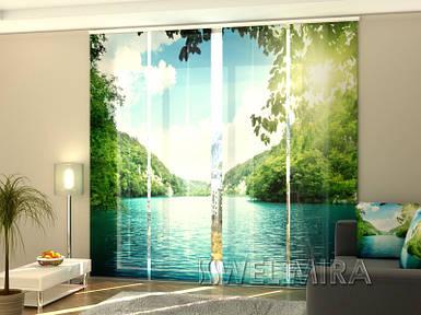 """Панельная фото штора """"Озеро"""" 240 х 240 см"""