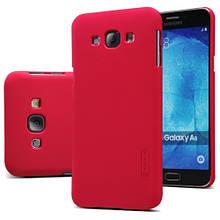 Чехол накладка пластиковый Nillkin Frosted для Samsung A800 A8 красный