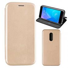 Чехол книжка кожаный G-Case Ranger для Huawei Y6 Pro золотистый