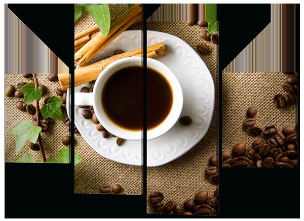 Модульная картина Interno Эко кожа Кофе и зерна 126x93см (A345М)