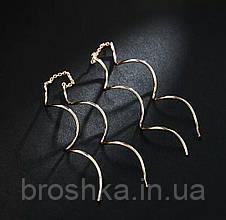 Длинные витые серьги цепочки в позолоте 18К, фото 3