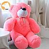 Большой мягкий плюшевый мишка 160 см, розовый, фото 2