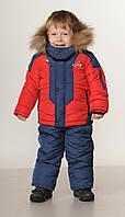 Зимний комбинезон детский для мальчиков   22-28 красный