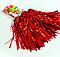 Помпоны для черлидинга Bonita Красные блестящие 2 шт