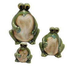 Новогодние керамические фигурки Лягушки