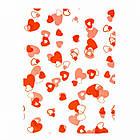 Полиэтиленовый Пакет с Рисунком Сердце, Цвет: Красный, Размер: 34х25см, (УТ100011942)