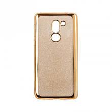 Чехол накладка силиконовый Remax Glitter Air для Huawei Honor 6c Pro золотистый