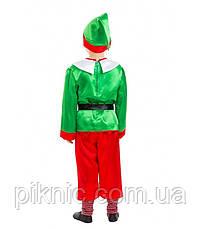 Детский костюм Эльф, Гном для мальчиков 4,5,6,7,8,9 лет. Новогодний карнавальный маскарадный костюм, фото 2