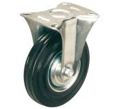 Неповоротное колесо диаметром 100 мм из стандартной черной резины
