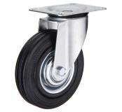 Поворотное колесо диаметром 125 мм из стандартной черной резины