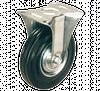 Колесо неповоротне діаметром 125 мм із стандартної чорної гуми