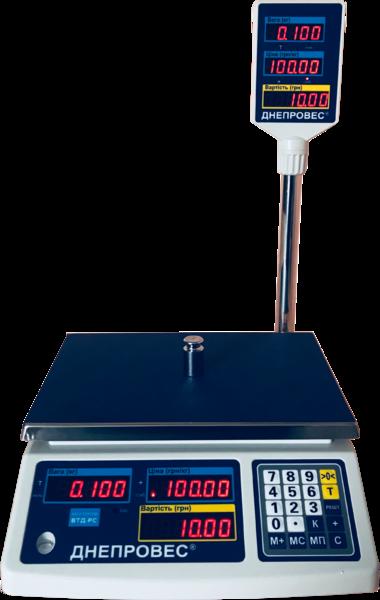 Торгові ваги ВТД (6, 15, 30 кг) з підключенням до РРО (RS-232)