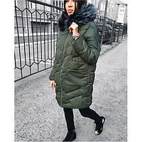 Пальто куртка зимняя женская (холлофайбер) 516