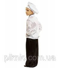 Костюм Повар 5-9 лет Детский новогодний карнавальный костюм для мальчиков 344, фото 3