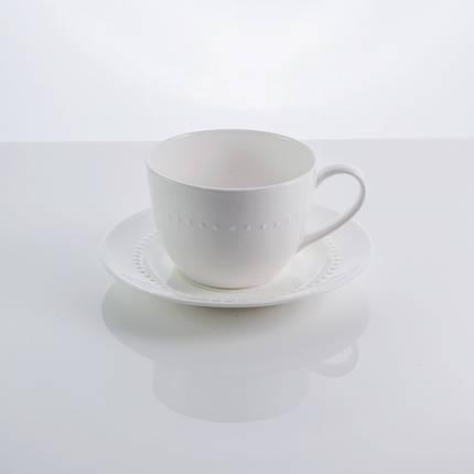 """Чашка с блюдцем фарфоровая белая """"Blob"""" 250 мл фарфор, фото 2"""