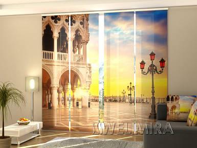 """Панельная фото штора """"Вечер в Венеции"""" 240 х 240 см"""