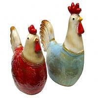 Керамические фигурки интерьерные Петух и Курица