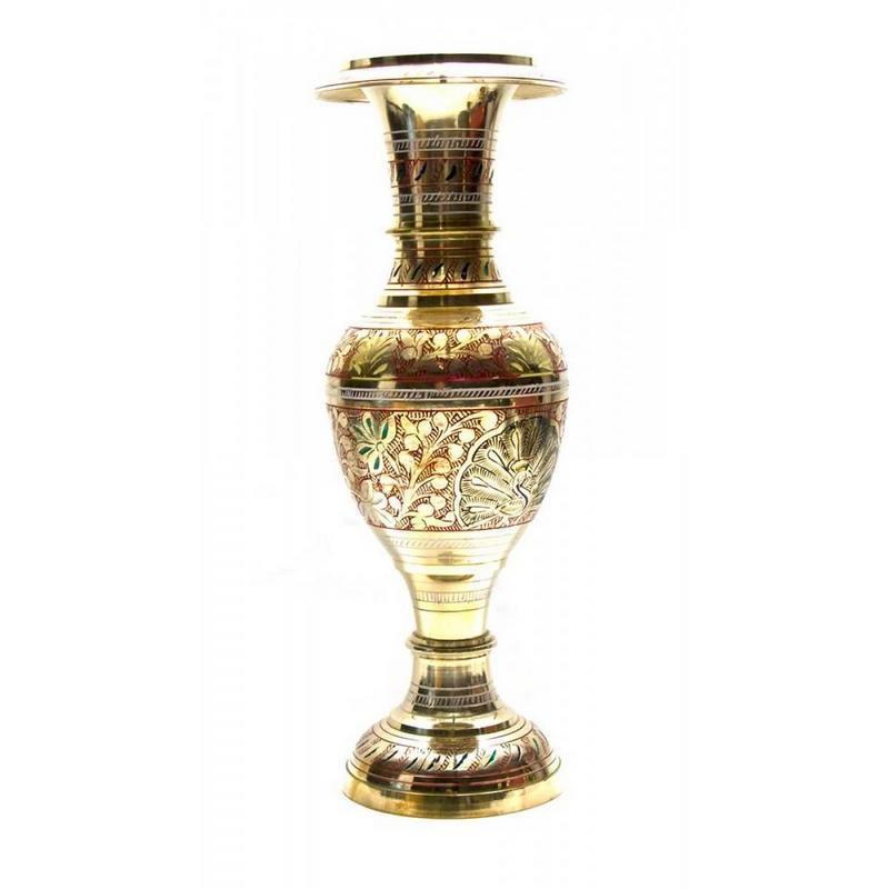 Ваза бронзовая цветная (34х11,5х11,5 см) ( 25938)