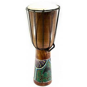 Барабан джембе расписной дерево с кожей (50х19х19 см) ( 30190)