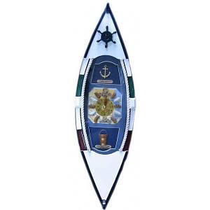 """Ключница """"Лодка с часами"""" (49,5х15х10 см) ( 2605)"""