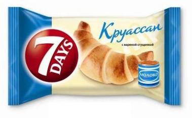 Круассаны 7 Days Chipita 60г. midi сгущенное молоко, фото 2