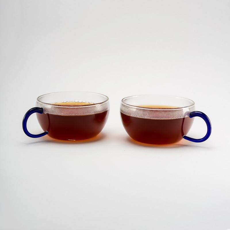 Комплект чайных чашек 200 мл 2 ед стеклянные чашки набор чашка стекло