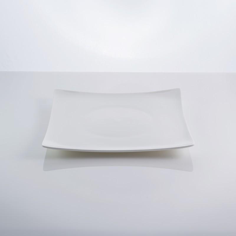 """Тарелка фарфоровая столовая квадратная белая 8,5"""" """"Aoue"""" 20 х 20 см фарфор"""