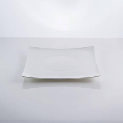 """Тарелка фарфоровая столовая квадратная белая 8,5"""" """"Aoue"""" 20 х 20 см фарфор, фото 2"""